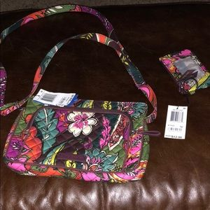 Vera Bradley Autumn Leaves Hipster and Zip ID Case